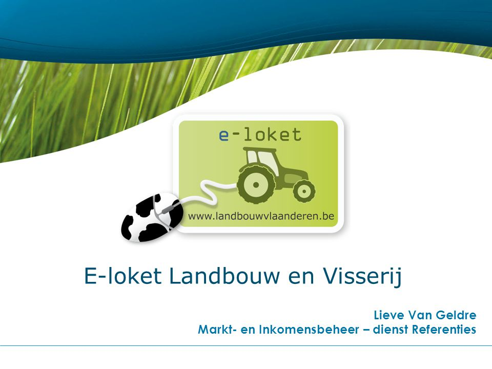 E-loket Landbouw en Visserij