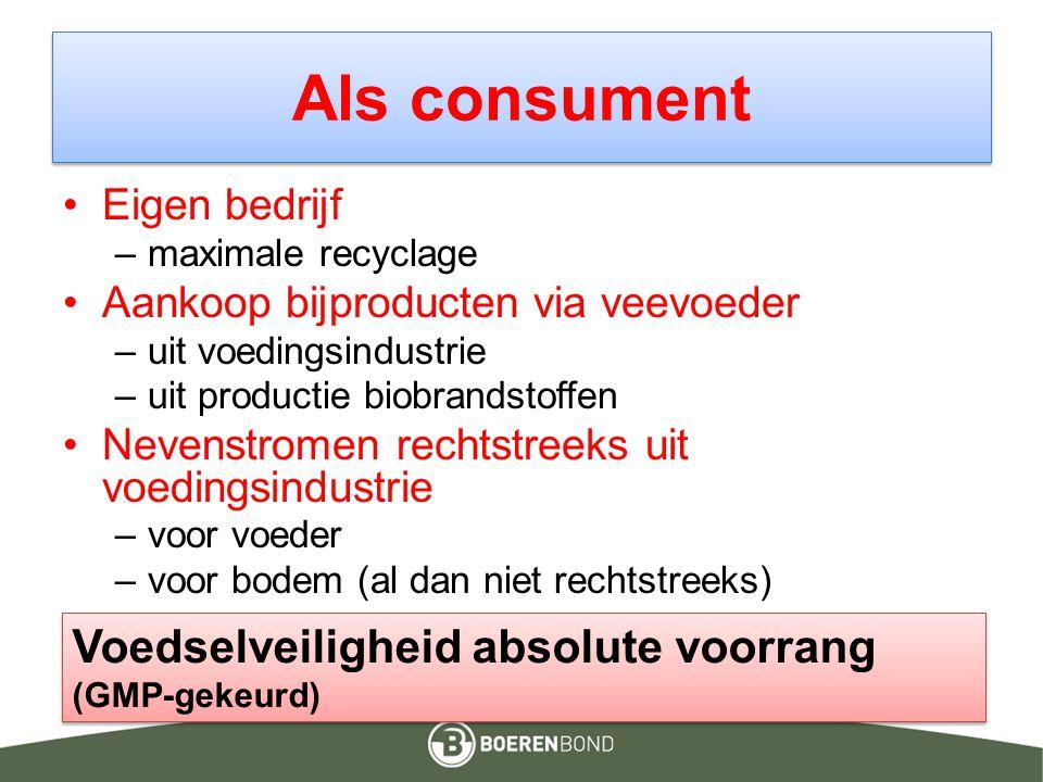 Als consument Voedselveiligheid absolute voorrang (GMP-gekeurd)