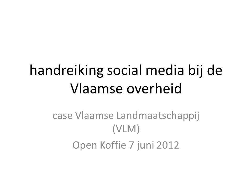 handreiking social media bij de Vlaamse overheid