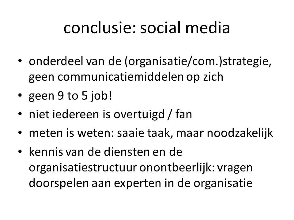 conclusie: social media