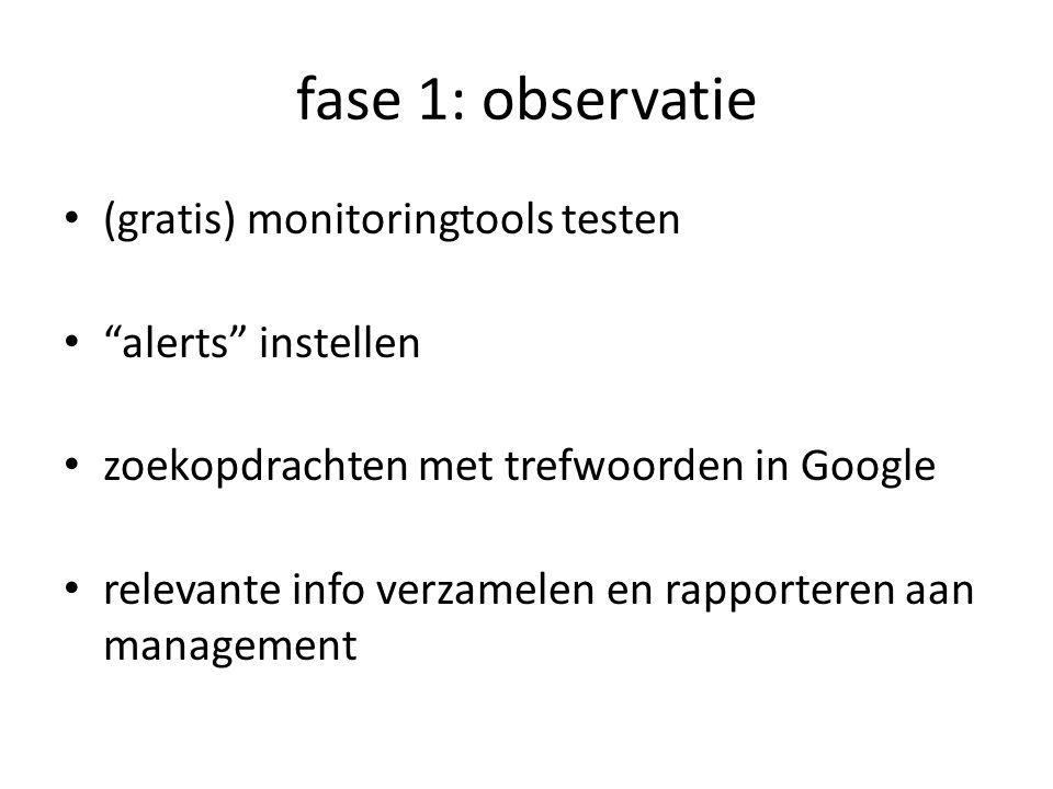 fase 1: observatie (gratis) monitoringtools testen alerts instellen