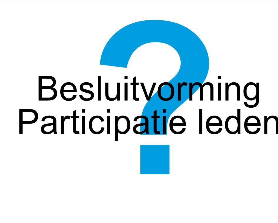 Besluitvorming Participatie leden