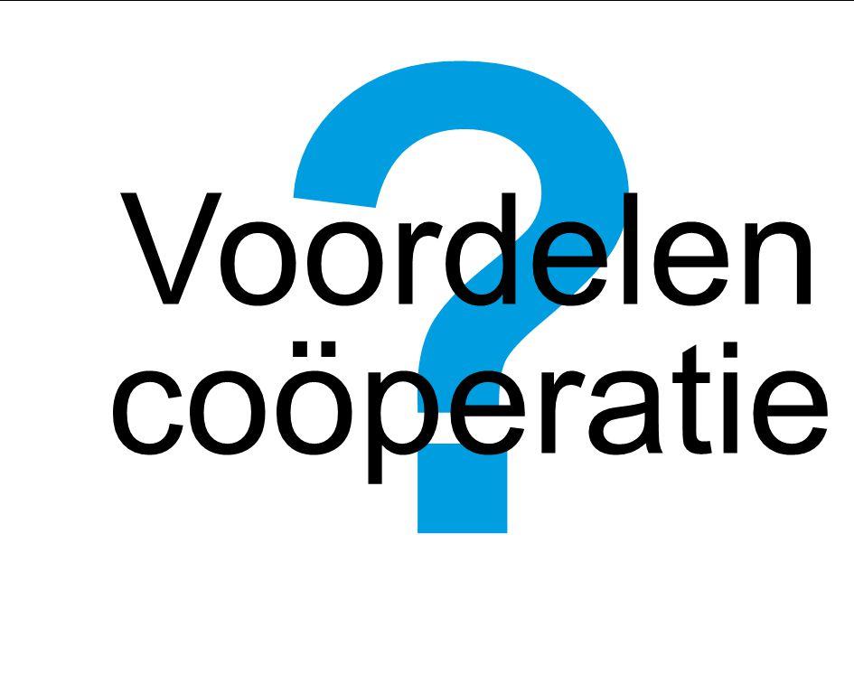 Voordelen coöperatie