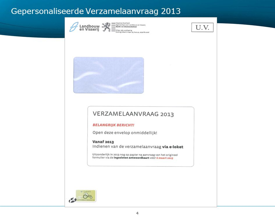 Gepersonaliseerde Verzamelaanvraag 2013