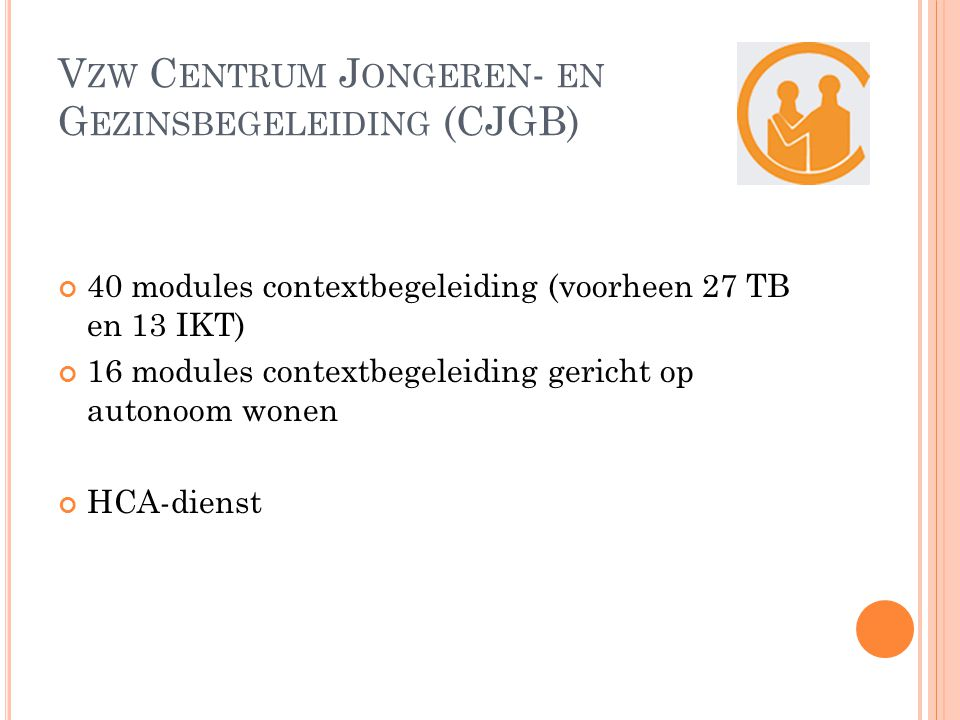 Vzw Centrum Jongeren- en Gezinsbegeleiding (CJGB)