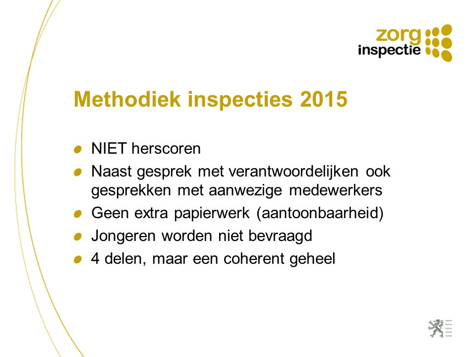Methodiek inspecties 2015 NIET herscoren