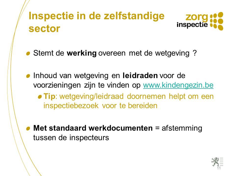 Inspectie in de zelfstandige sector
