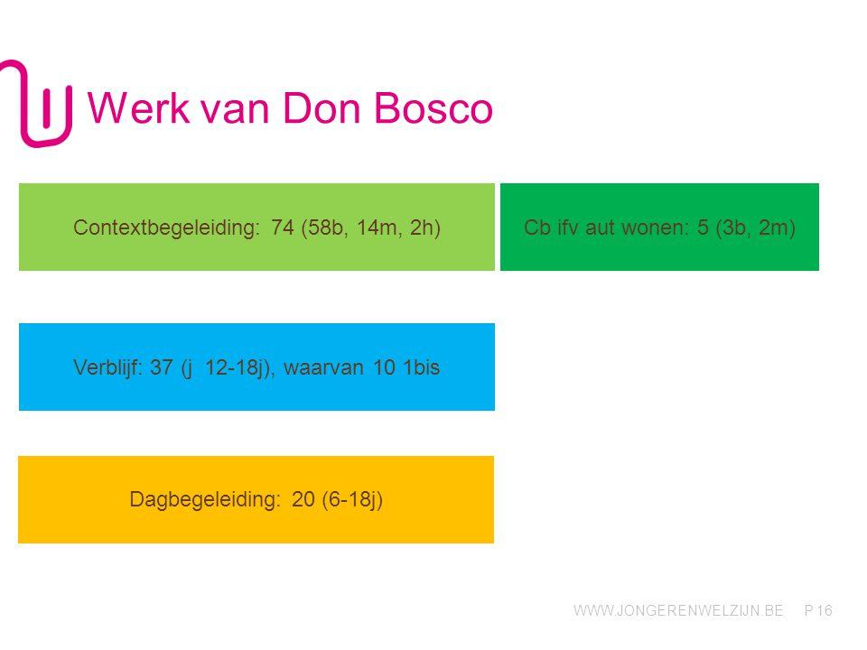 Werk van Don Bosco Contextbegeleiding: 74 (58b, 14m, 2h)
