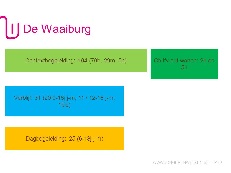 De Waaiburg Contextbegeleiding: 104 (70b, 29m, 5h)
