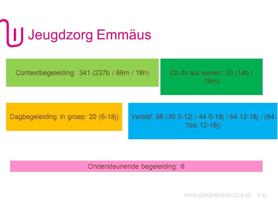 Jeugdzorg Emmäus Contextbegeleiding: 341 (237b / 86m / 18h)