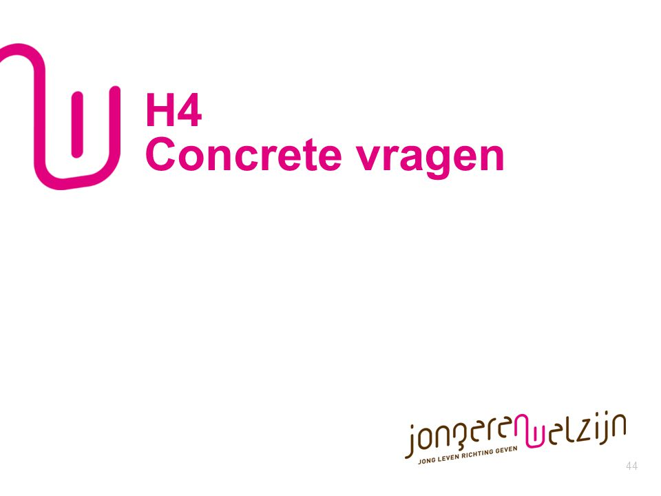 H4 Concrete vragen