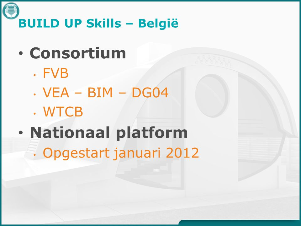 BUILD UP Skills – België