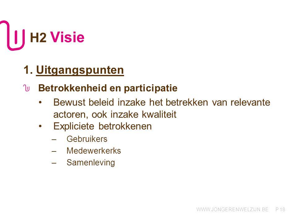 H2 Visie 1. Uitgangspunten Betrokkenheid en participatie