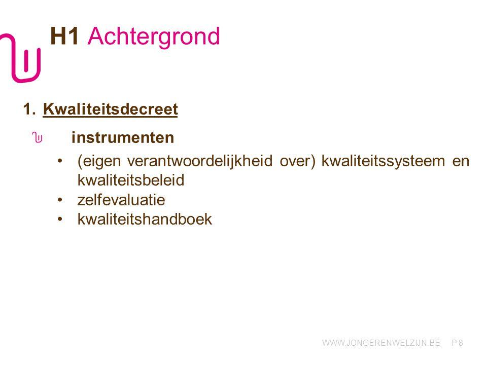 H1 Achtergrond Kwaliteitsdecreet instrumenten