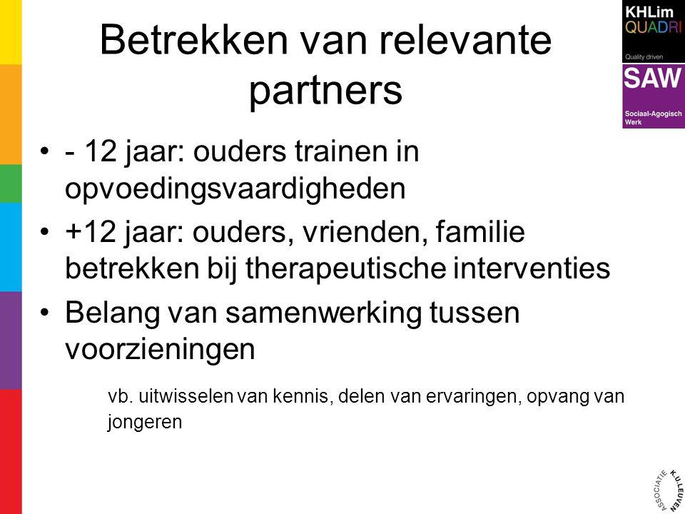 Betrekken van relevante partners