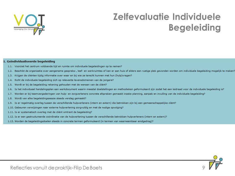 Zelfevaluatie Individuele Begeleiding