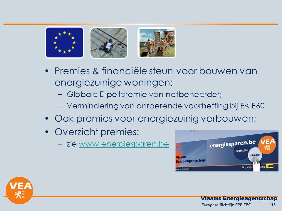 Premies & financiële steun voor bouwen van energiezuinige woningen: