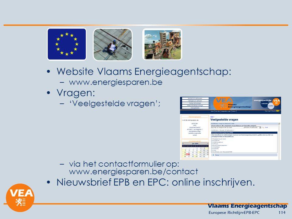 Website Vlaams Energieagentschap: Vragen: