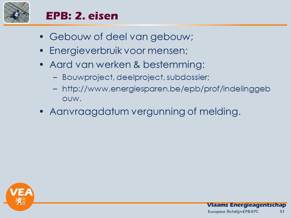 EPB: 2. eisen Gebouw of deel van gebouw; Energieverbruik voor mensen;