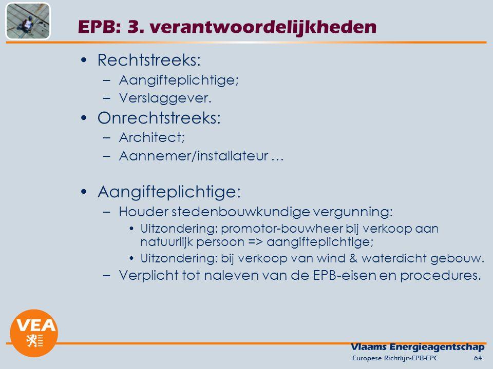 EPB: 3. verantwoordelijkheden