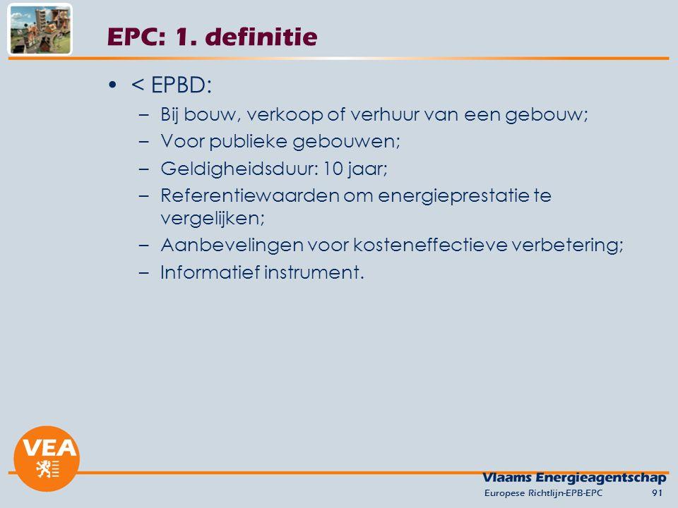 EPC: 1. definitie < EPBD: