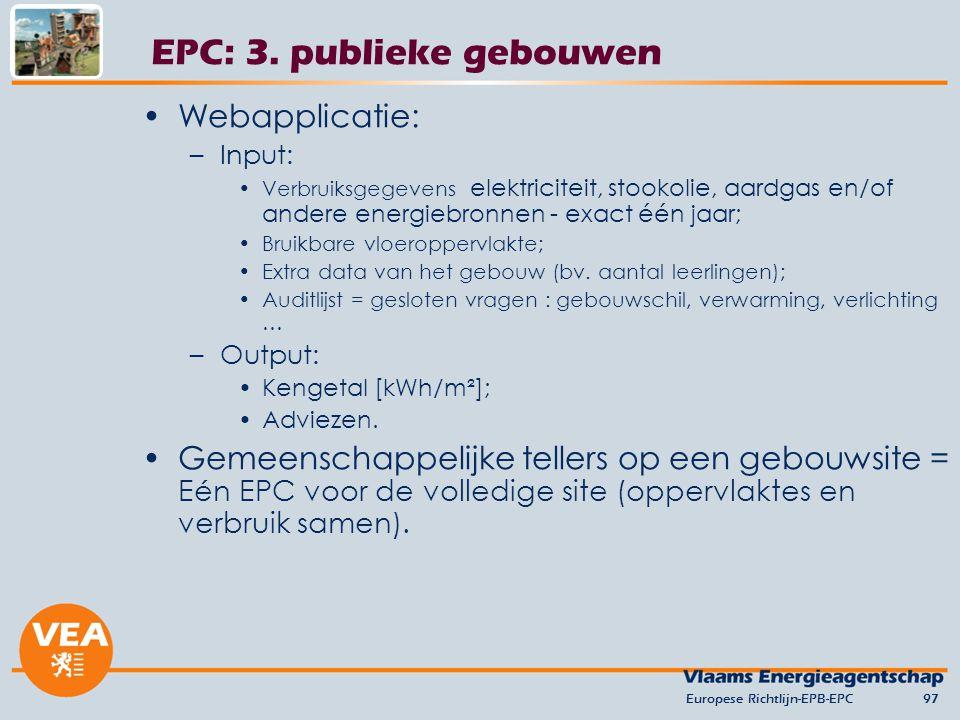 EPC: 3. publieke gebouwen