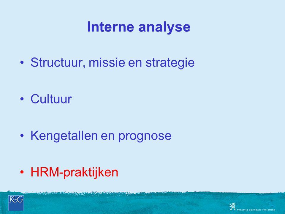 Interne analyse Structuur, missie en strategie Cultuur