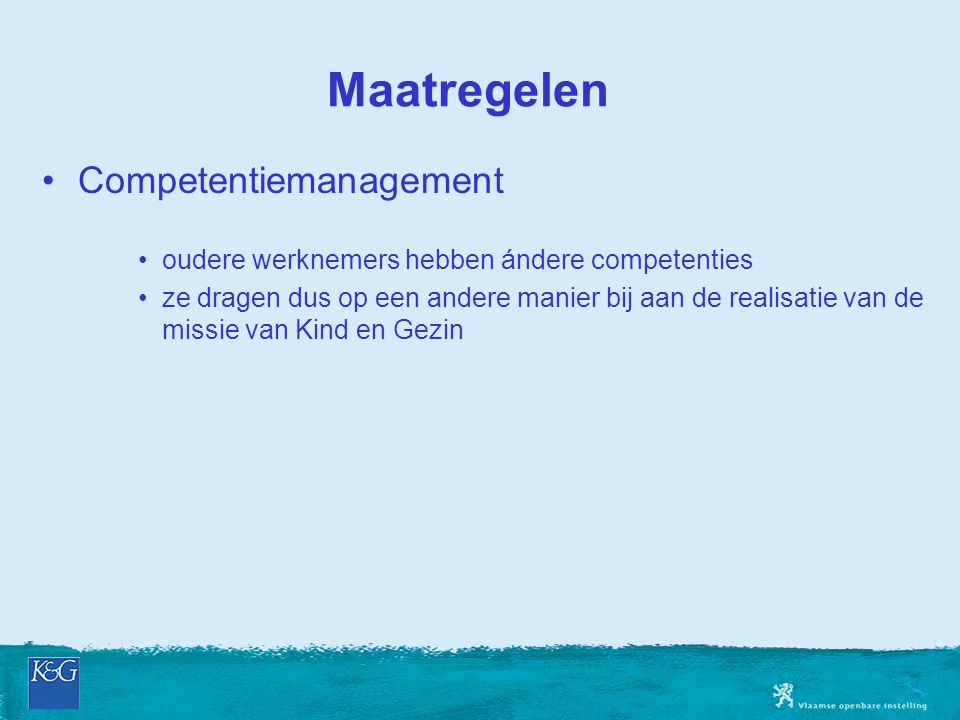 Maatregelen Competentiemanagement