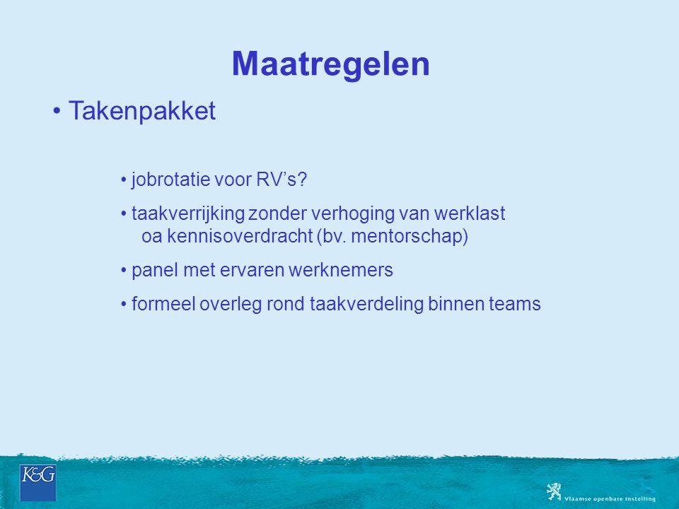 Maatregelen Takenpakket jobrotatie voor RV's