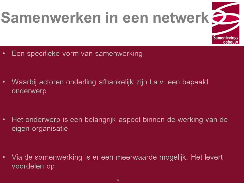 Samenwerken in een netwerk