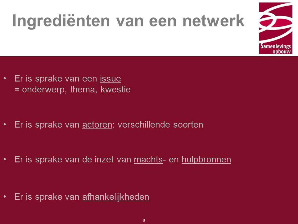 Ingrediënten van een netwerk