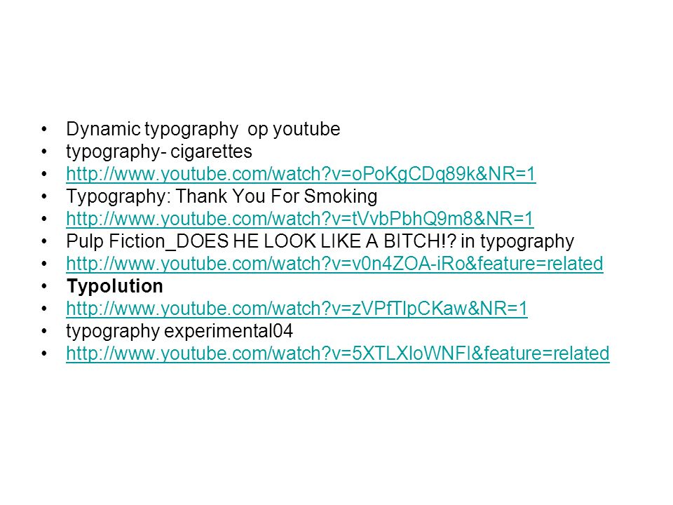 Dynamic typography op youtube