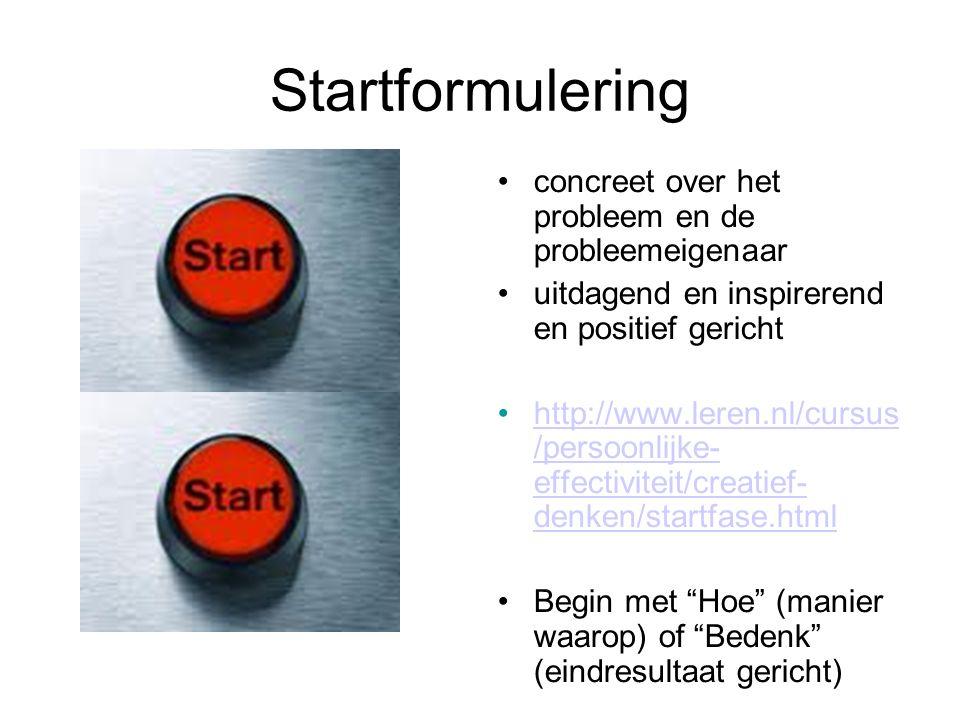 Startformulering concreet over het probleem en de probleemeigenaar