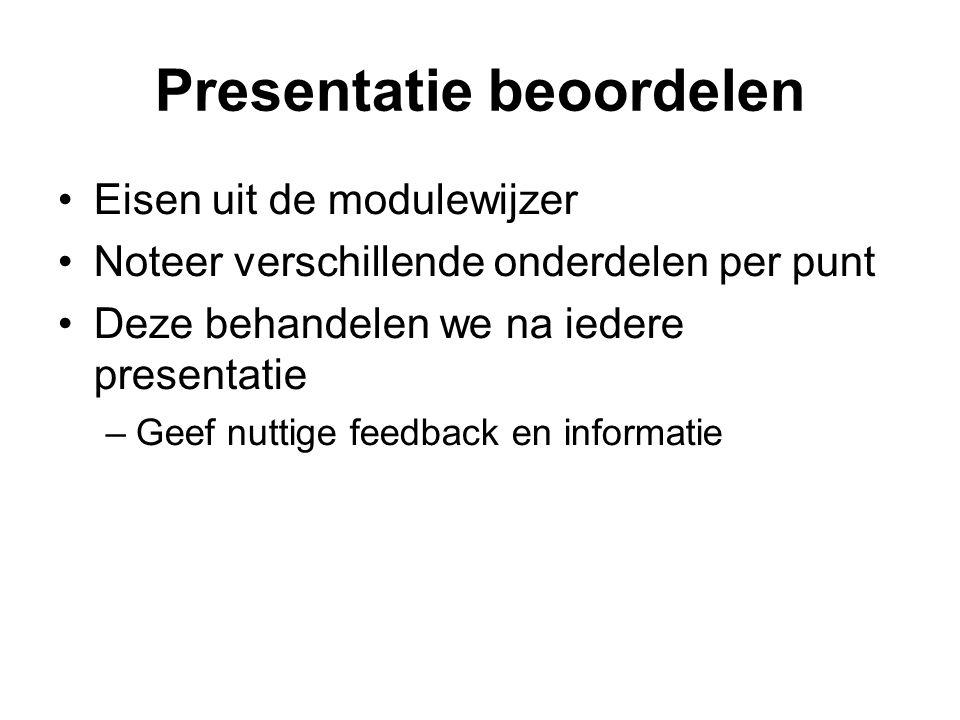 Presentatie beoordelen