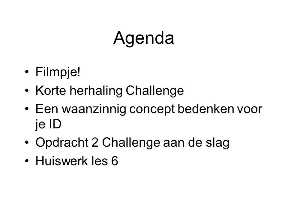 Agenda Filmpje! Korte herhaling Challenge