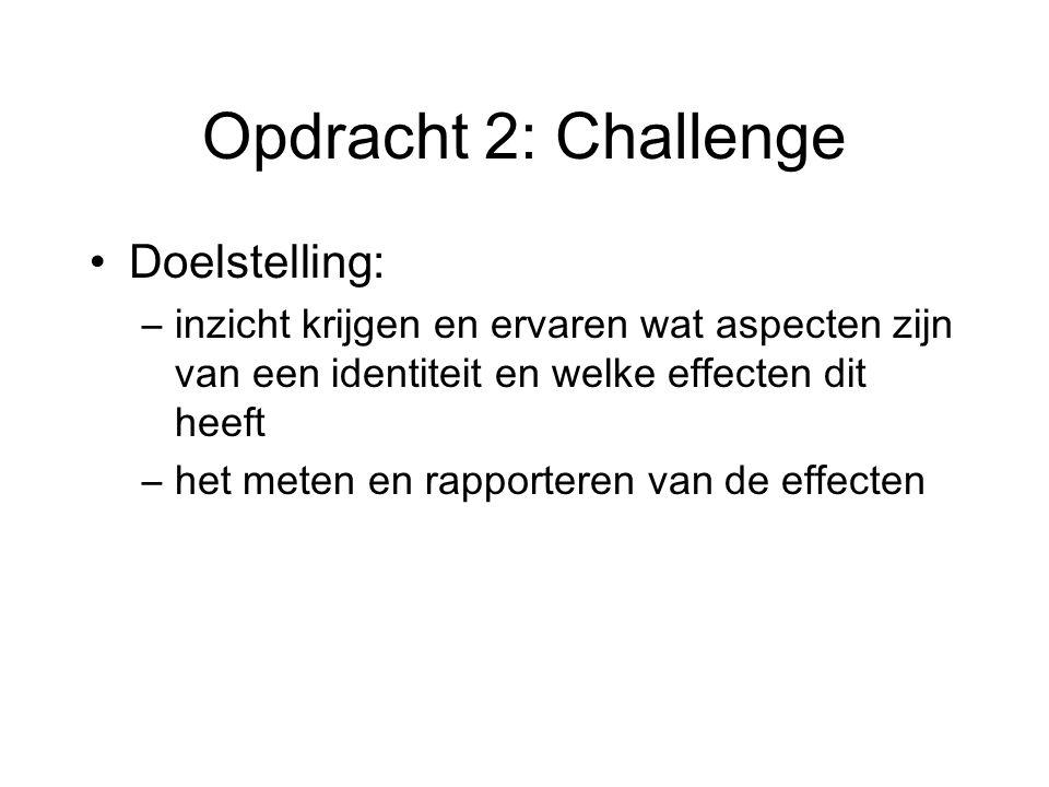 Opdracht 2: Challenge Doelstelling: