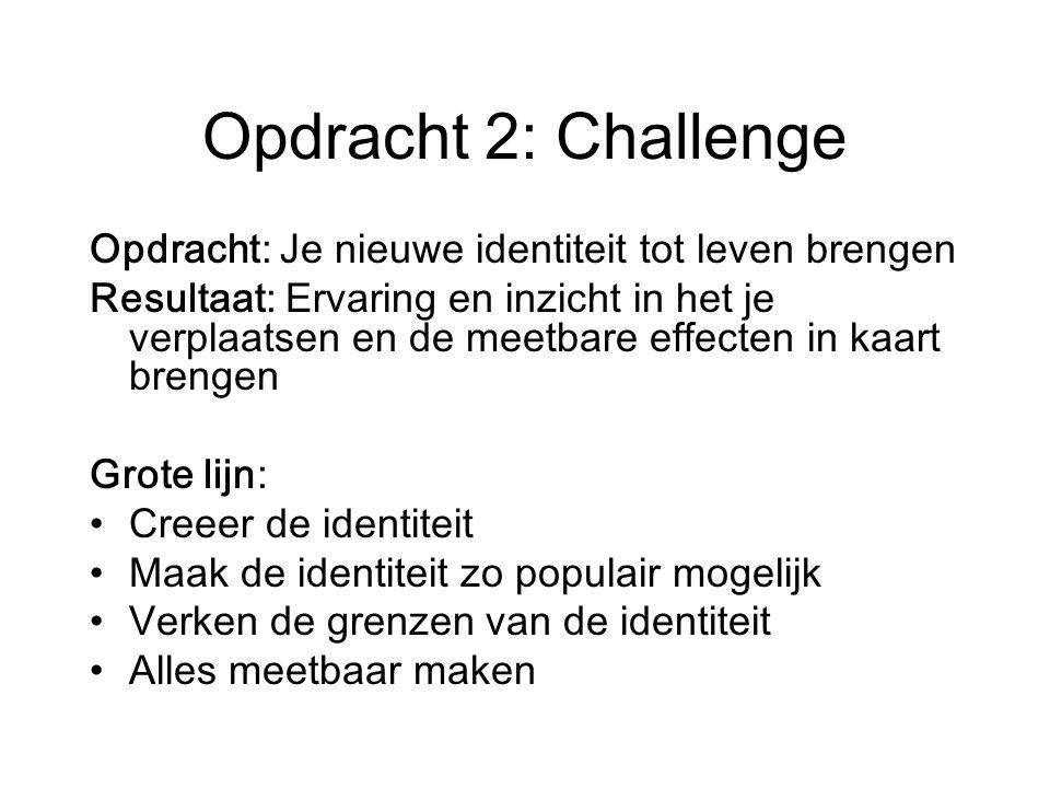 Opdracht 2: Challenge Opdracht: Je nieuwe identiteit tot leven brengen
