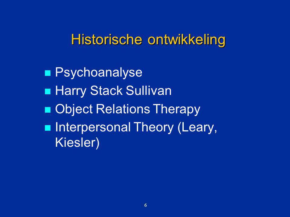 Kenmerken Ontwikkeld in the '70s door Klerman, Weissman e.a.
