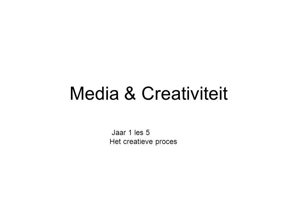 Jaar 1 les 5 Het creatieve proces