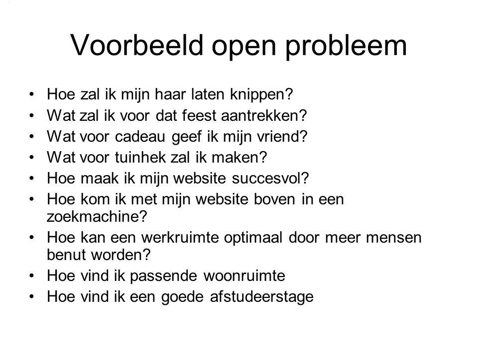 Voorbeeld open probleem