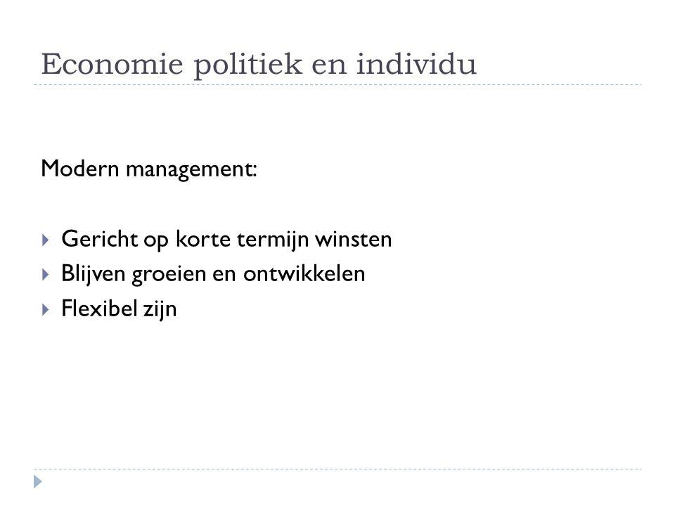 Economie politiek en individu