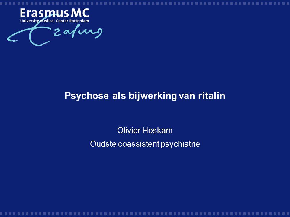 Psychose als bijwerking van ritalin