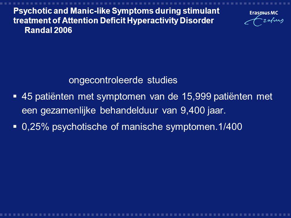 ongecontroleerde studies
