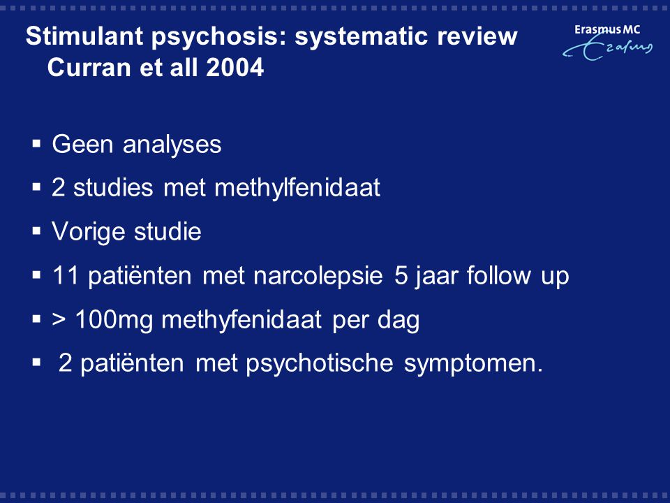 Stimulant psychosis: systematic review Curran et all 2004