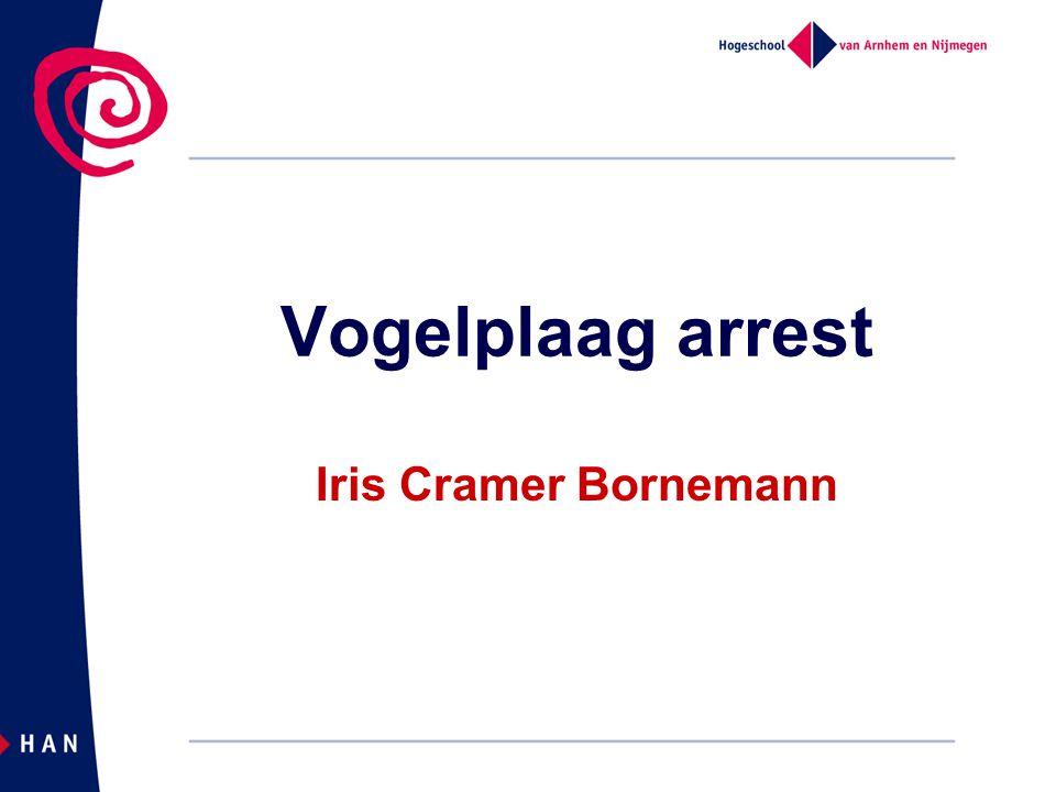 04/04/2017 Vogelplaag arrest Iris Cramer Bornemann