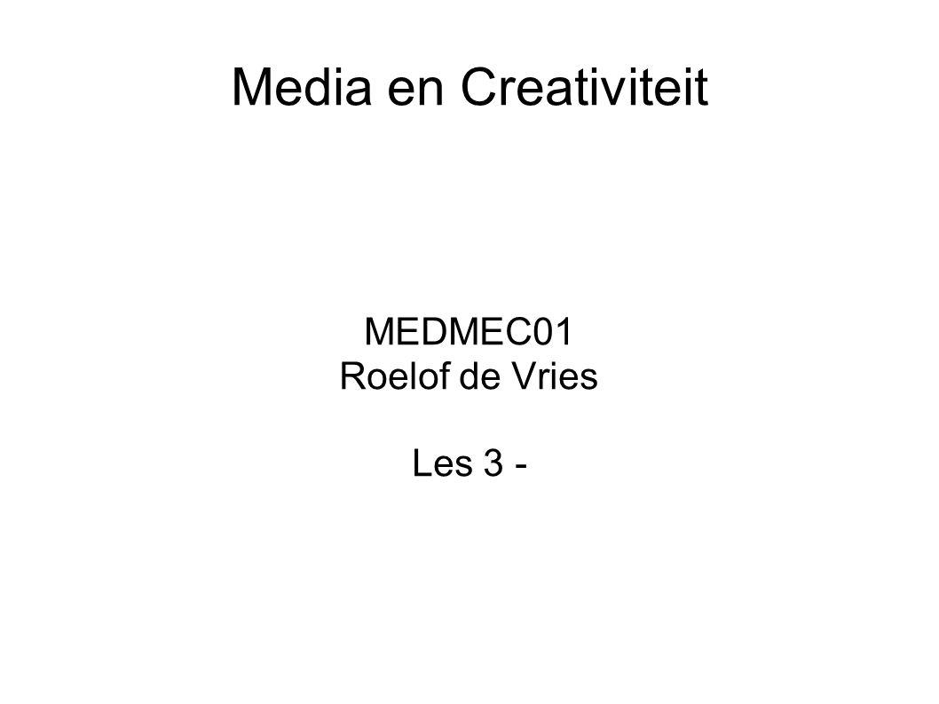 MEDMEC01 Roelof de Vries Les 3 -