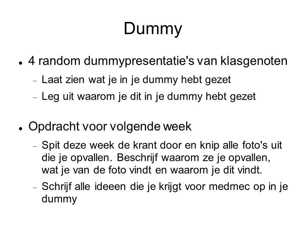 Dummy 4 random dummypresentatie s van klasgenoten
