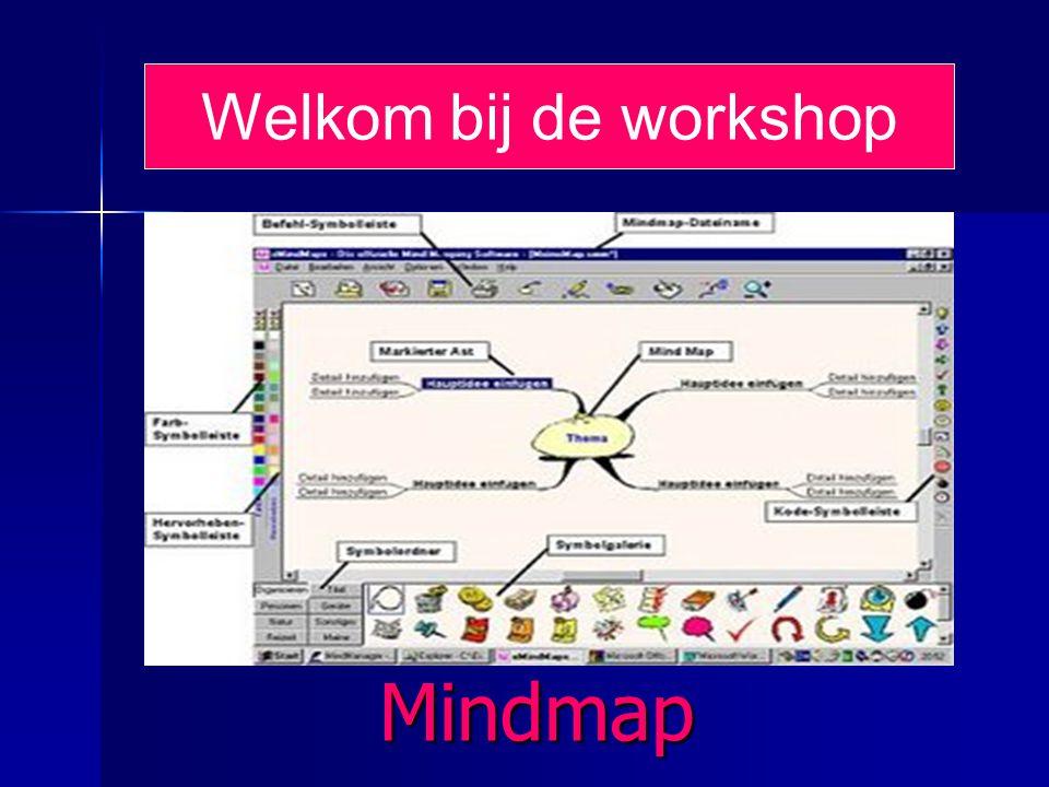 Welkom bij de workshop Mindmap