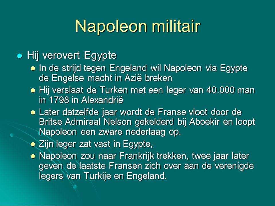 Napoleon militair Hij verovert Egypte
