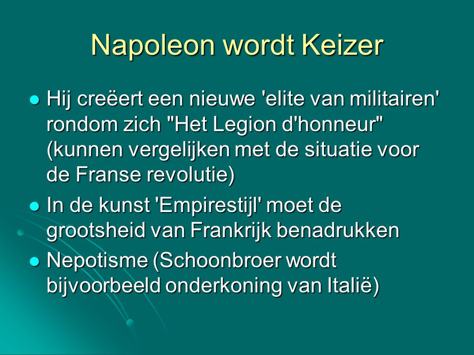 Napoleon wordt Keizer